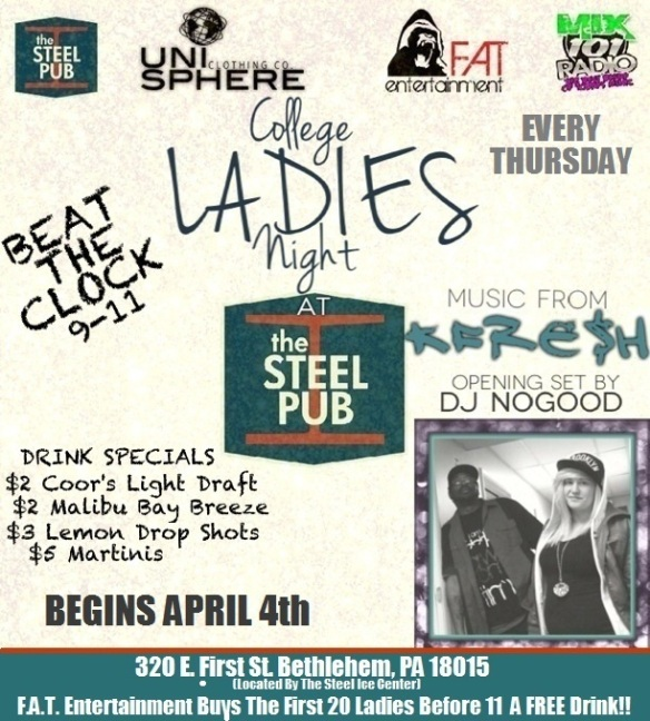 F.A.T. Entertainment's College LADIES Night with KFre$h at The Steel Pub
